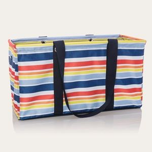 Thirty-one large utility tote in vista stripe